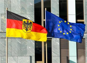 Almanya ve Avrupa Birliği Bayrakları