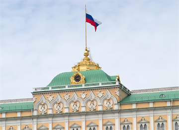 Kremlin'de Dalgalanan Rus Bayrağı