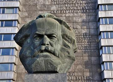 Chemnitz Karl Marx Büstü