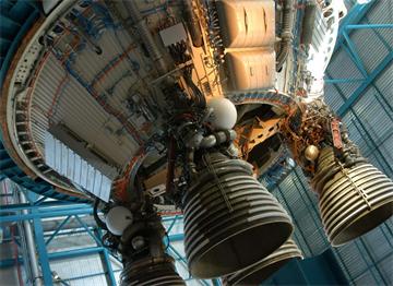 Cape Canaveral Florida'da Bir Roket