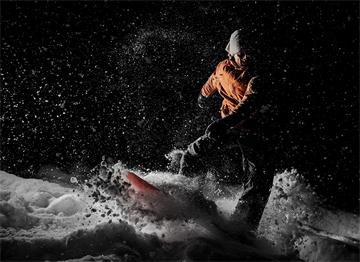 Gudari'de Gece Snowboard