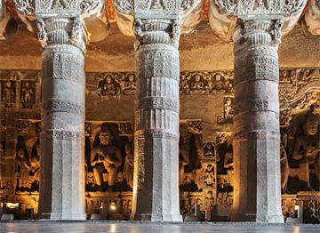 Antik Ajanta Mağaraları-Maharaştra