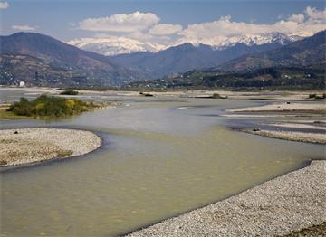 Gürcistan Sınırları İçinde Çoruh Nehri