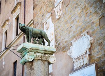 Roma'da Romus ve Romulus Heykeli