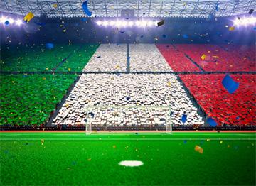 Futbol Stadyumunda İtalya Renkleri