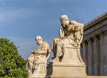 Antik Filozoflar Sokrates ve Eflatun